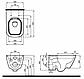 Комплект: MODO Rimfree (Безободовый) унитаз подвесной, Geberit Duofix 3в1, сидение Duroplast soft-close, фото 8