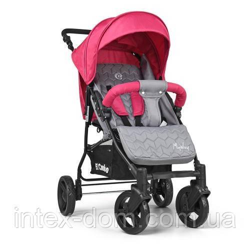 Коляска детская прогулочная El Camino ME 1012-8 MY WAY дождевик подстаканник чехол (розовая)