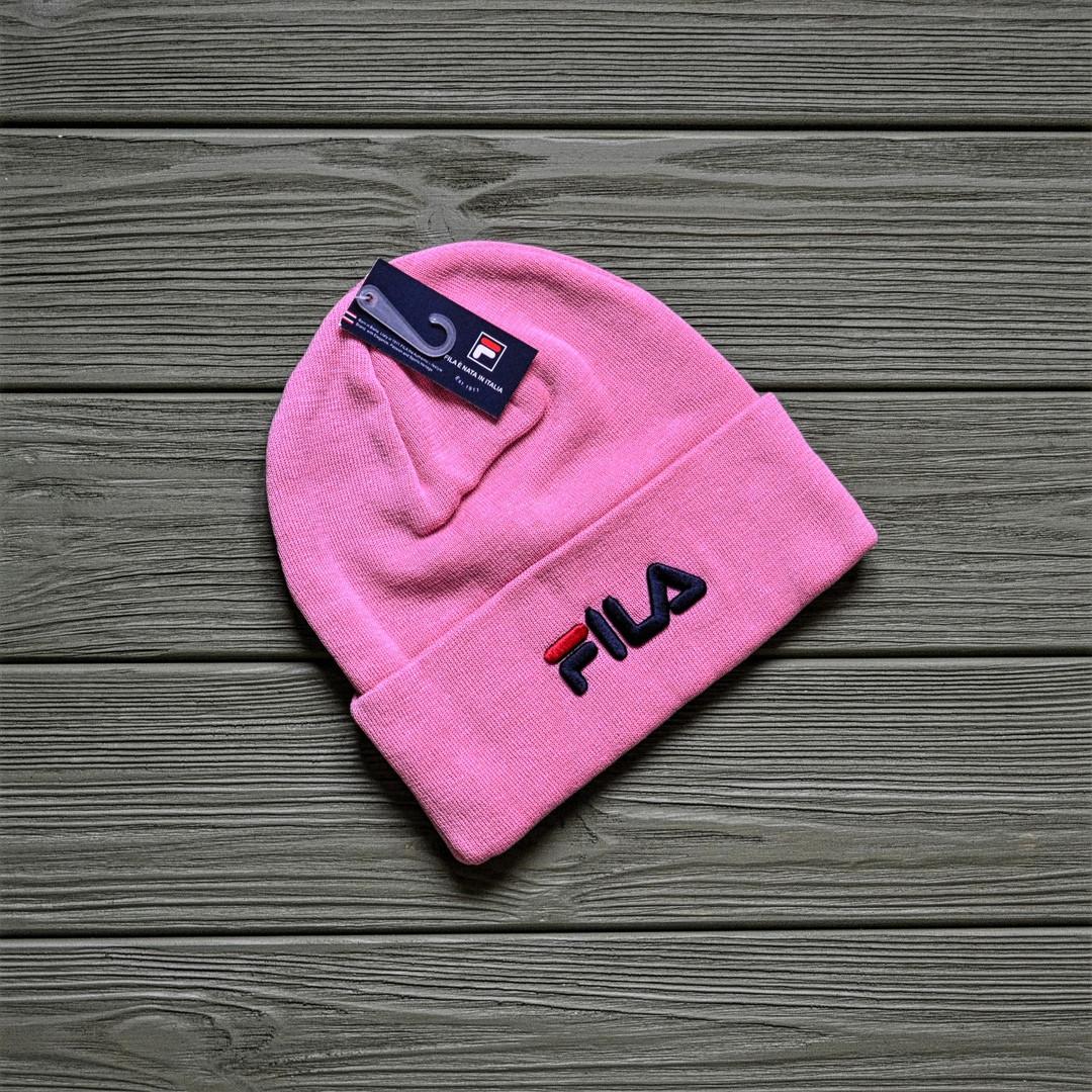 Шапка Fila розовая (реплика)