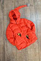Куртка зимняя девочка фламинго красная 9275