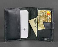 """Обложка для паспорта из кожи 4.0 """"Графит"""", фото 2"""