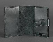 """Обложка для паспорта из кожи 4.0 """"Графит"""", фото 3"""
