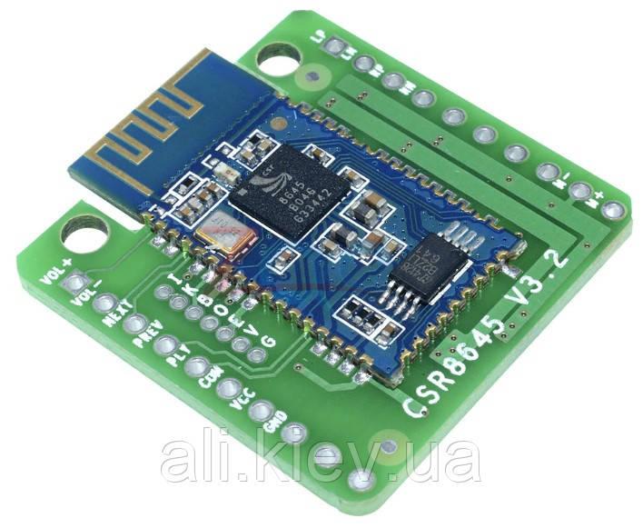 Усилитель с плеером 2*5 Вт  Bluetooth 4.0 apt-X Hi-fi аудио стерео модуль DC 3.3-6,5V