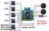 Усилитель с плеером 2*5 Вт  Bluetooth 4.0 apt-X Hi-fi аудио стерео модуль DC 3.3-6,5V, фото 3