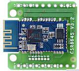 Підсилювач з плеєром 2*5 Вт Bluetooth 4.0 apt-X Hi-fi аудіо стерео модуль DC 3.3-6,5 V, фото 5