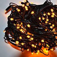 Гирлянда уличная Нить LED 160, жёлтая, чёрный провод, фото 1