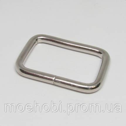 Рамки для сумок (32мм) никель,  413620, фото 2