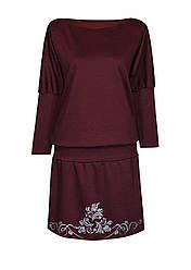 Платье летучая мышь из трикотажа Винтаж цельнокройное