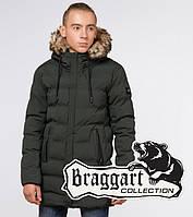 "Подросток 13-17 лет | Зимняя куртка Braggart ""Teenager"" 25250 темно-зеленая"