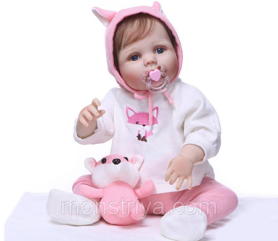 """Кукла малышка реборн """"Маленькая лисичка"""" полностью из винил-силикона /Кукла,пупс reborn"""