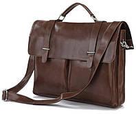Портфель деловой Vintage из натуральной кожи коричневого цвета14208