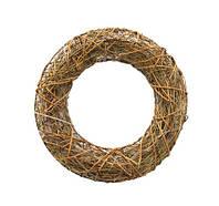 Основа-кольцо из лозы на проволочной основе 20 см