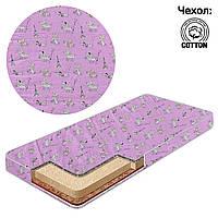 Матрас детский в кроватку кокос - поролон - гречка - хлопок - Пудель, розовый, 19031