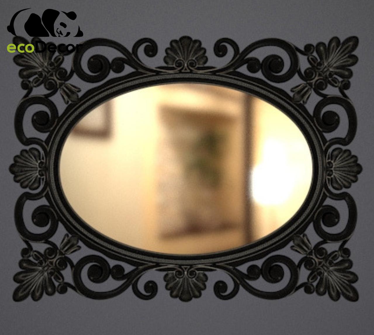Зеркало настенное Valencia в раме черной с белым.