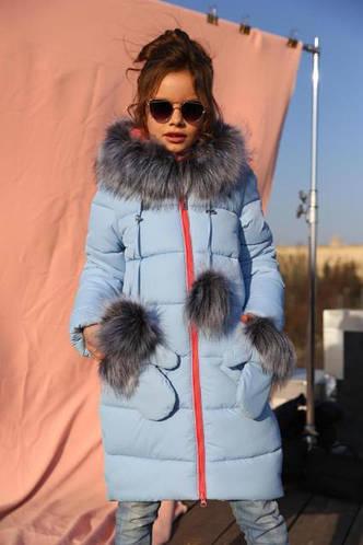 Красивое и очень теплое зимнее пальто для девочки