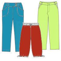 Джинсы, брюки, капри для девочки