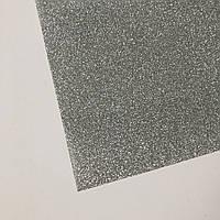 Термотрансферна плівка - глітер - срібло - 10х25 см