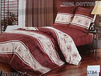 Сатиновое постельное белье семейное ELWAY 3784