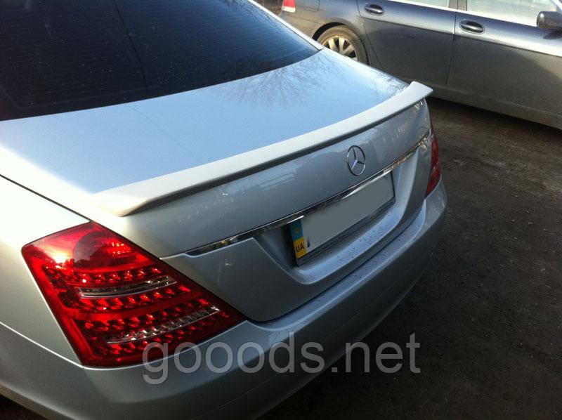 Спойлер на крышку багажника Mercedes S-Class W221