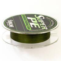 Шнур Sunline Super PE 300м 0,285мм 30Lb/15кг (темно-зеленый)