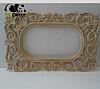 Дзеркало настінне Grodno в білій із золотом рами, фото 6