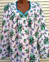 Теплая ночная рубашка из фланели 52 размер, фото 1