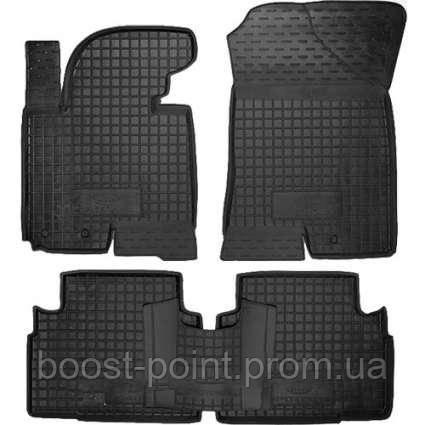 Коврики салона (резиновые, черные) avto-gumm Kia Sportage III SL (киа спортаж/спортейдж 2010-2015)