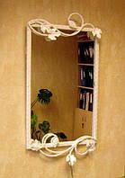Белая рамка для дзеркала33