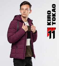 11 Киро Токао | Куртка для подростка зимняя 6008-1 бордовый