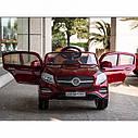 Детский электромобиль Джип Mersedec ML Кожаное сиденье, EVA Резина Автопокраска красный, дитячий електромобіль, фото 3