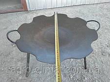 Сковорода из диска бороны 550 мм съемные ножки, фото 3