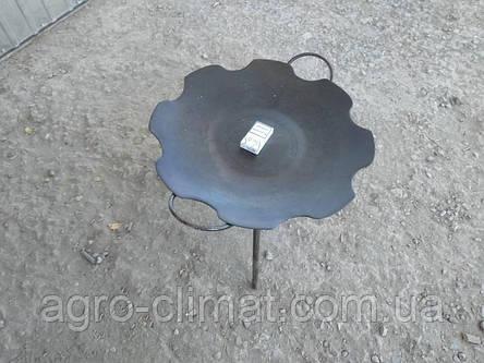 Сковорода из диска бороны 550 мм съемные ножки, фото 2