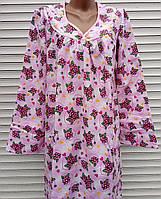 Теплая ночная рубашка из фланели 54 размер, фото 1