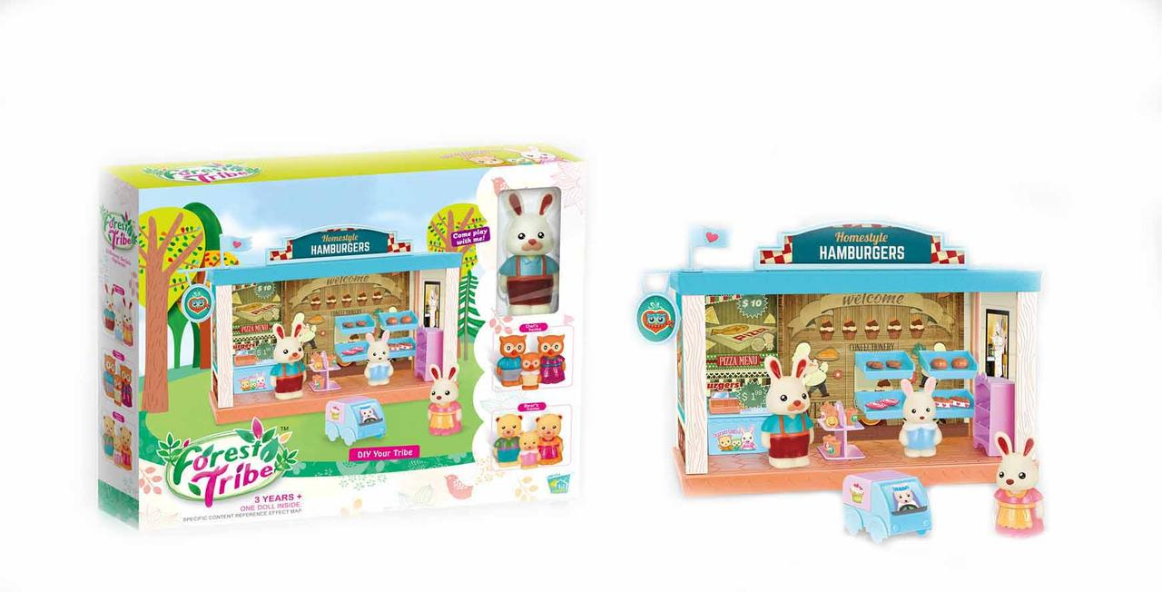 Набор игрушечная комната с животными