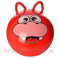 """Мяч для фитнеса с ушками MS 0471R """"Животные"""""""