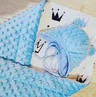 Детское одеяло пледик плюшевый теплый