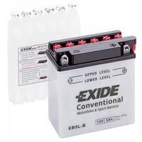 Аккумуляторы мото Exide EB5L-B: 5 А·ч - 12 V; 65 (EB5L-B), 120x60x130 мм