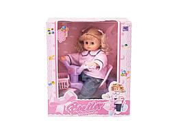 Кукла 38 см с велосипедом