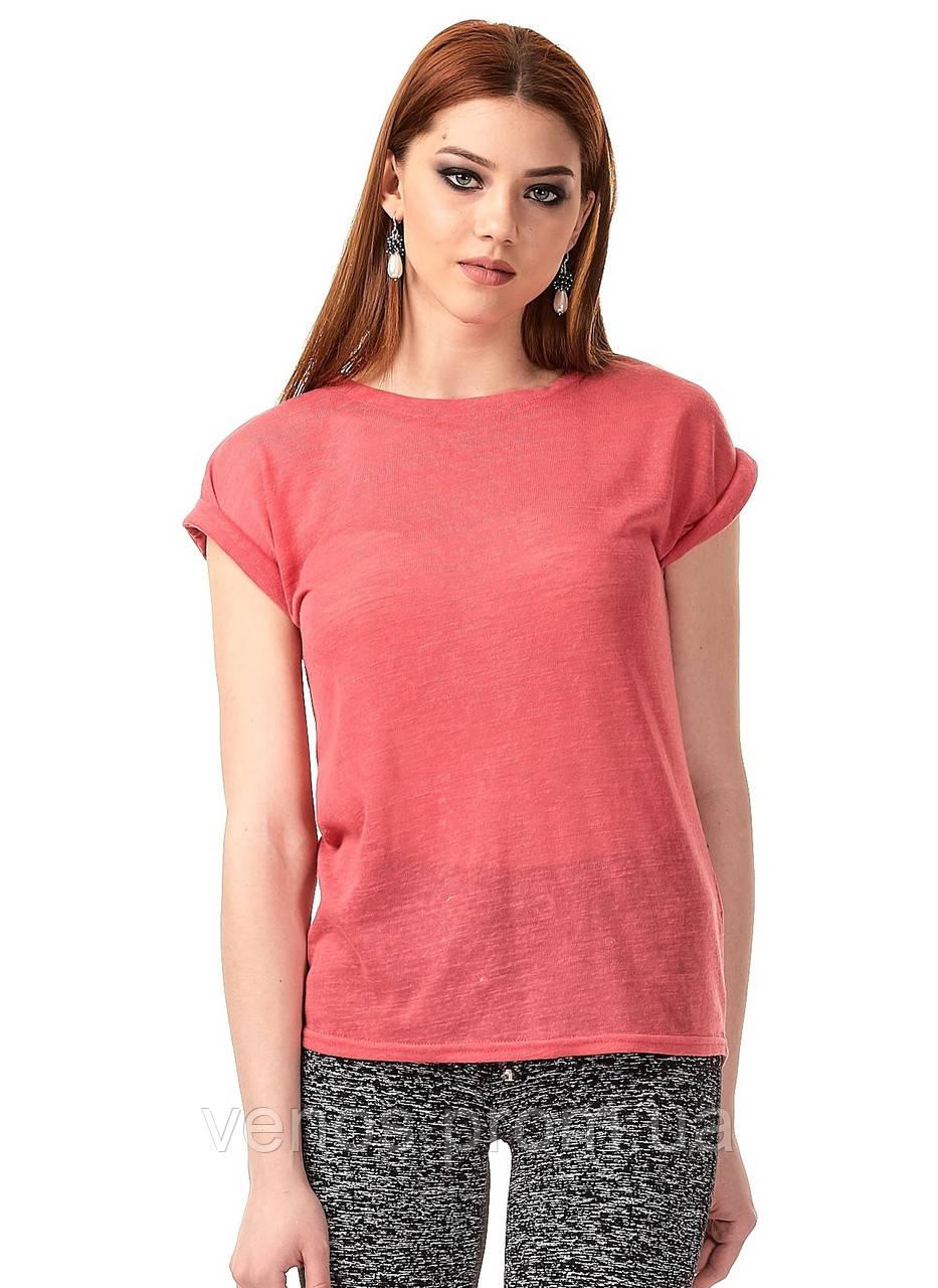 Женская трикотажная футболка. К079