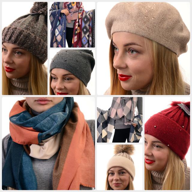 Женские аксессуары оптом(шарфы, шапки, сумки)