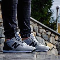 """Зимние кроссовки на меху New Balance 574 """"Серыe"""", фото 3"""