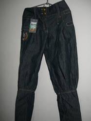 Брюки девочка джинс серые р.140