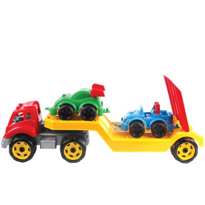 Машинка Автовоз с набором машинок Технок (3909)
