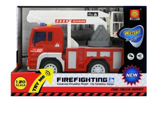 Машинка фрикционная пожарная, свет,звук