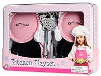 Набор посуды игровой Кухонный с неирж.стали и эмалированная, 8 ед. жестяная коробка