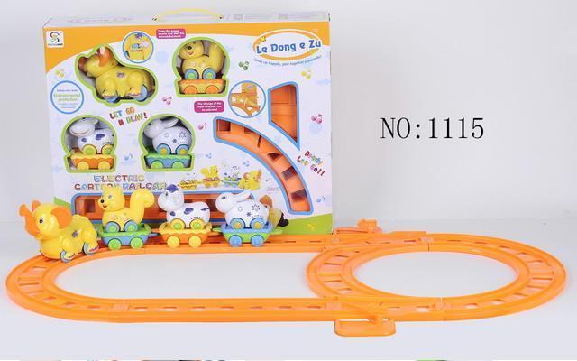 Железная дорога SCH Слоник для малышей, свет+звук, 1115