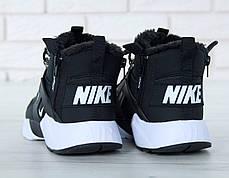 """Зимние кроссовки на меху Nike Huarache Acronym City """"Черные / Белые"""", фото 3"""