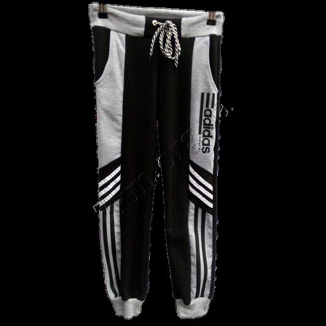 Спортивные штаны детские Adidas для мальчиков (8-12 лет) трикотажные tim 2030 Черные