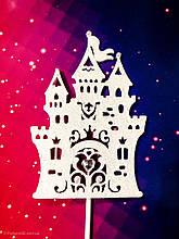 Топпер волшебный замок украшение для торта с декоративным камнем , Топпер в блестках ОПТ/Розница