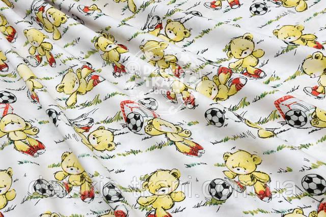 Хлопковая ткань с футболистами